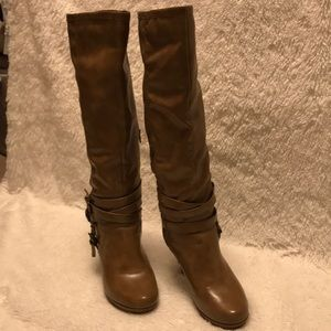 Rampage Shoes - Knee-High Heeled Boots